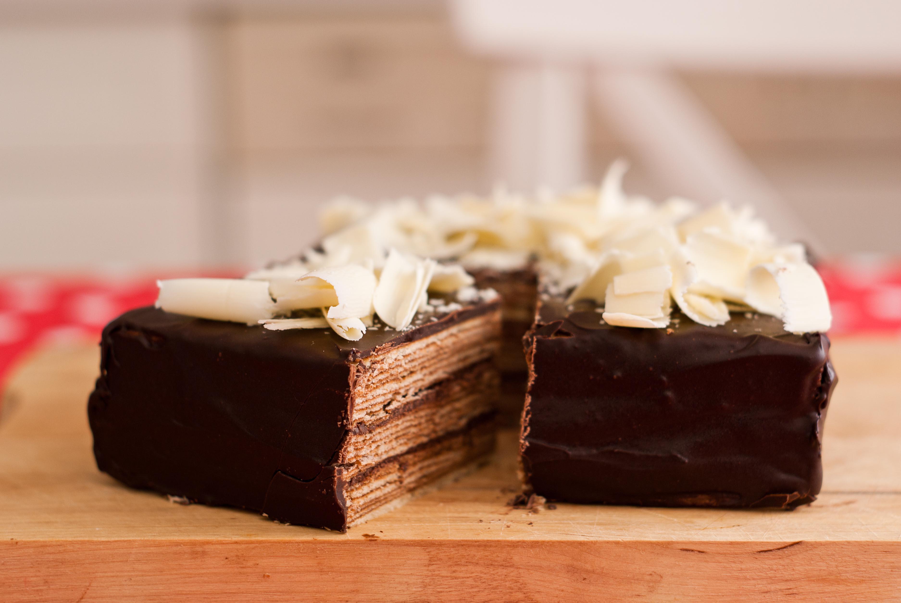 Baumkuchen, Schokolade und Nougat · Berliner Speisemeisterei