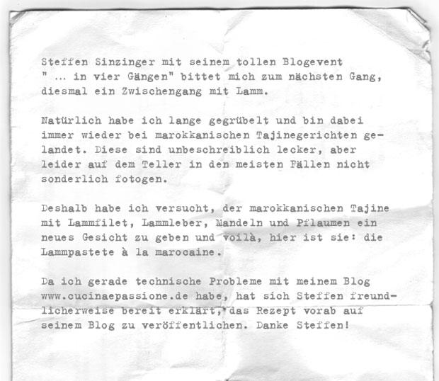 Dreizeiler-Lamm-Dirk