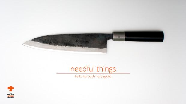 needful things haiku kurouchi tosa gyuto von chroma berliner speisemeisterei. Black Bedroom Furniture Sets. Home Design Ideas